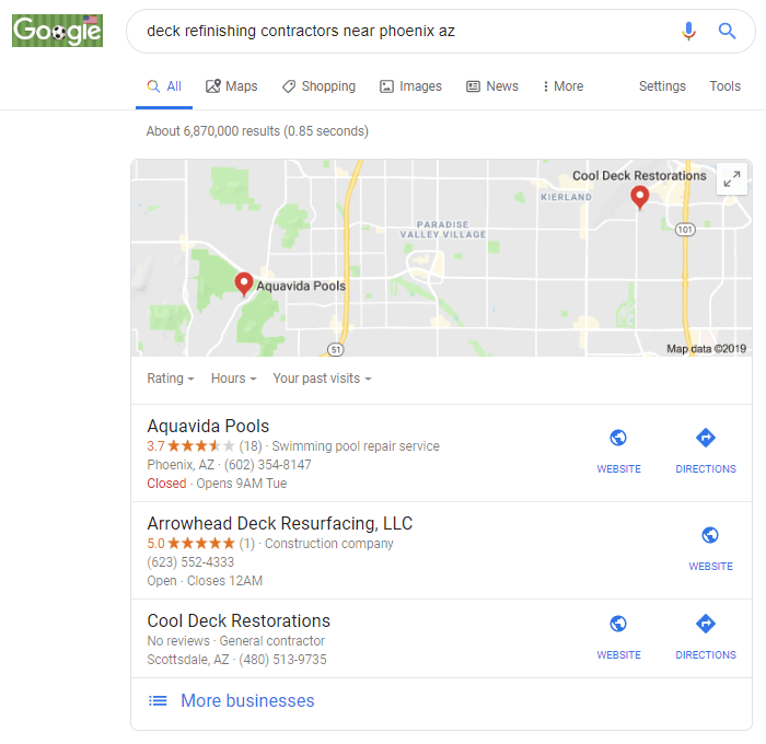 In google maps you can read google reviews from customers